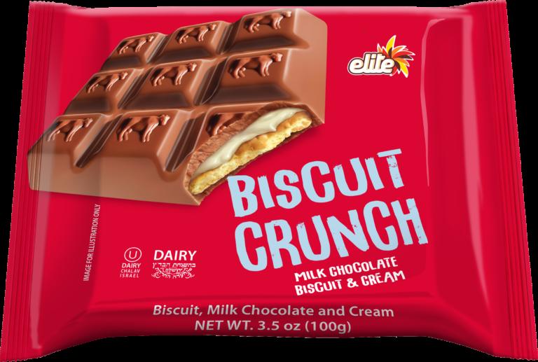 Crunch Milk Chocolate & Cream Biscuit 3.5oz EliteY