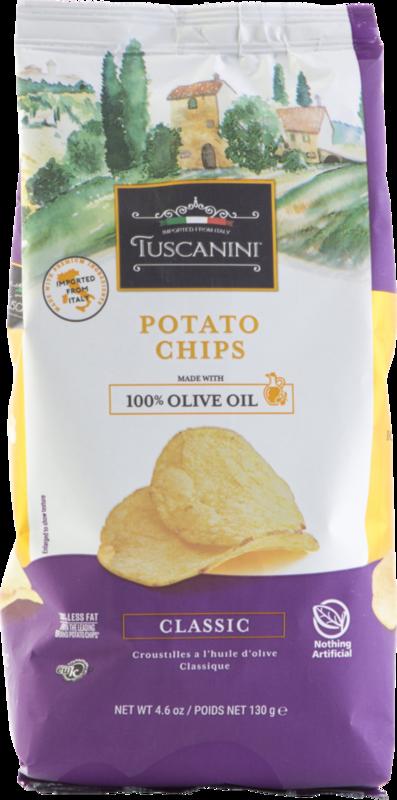 Olive Oil Potato Chips Cl GF 4.6oz Tuscanini KP