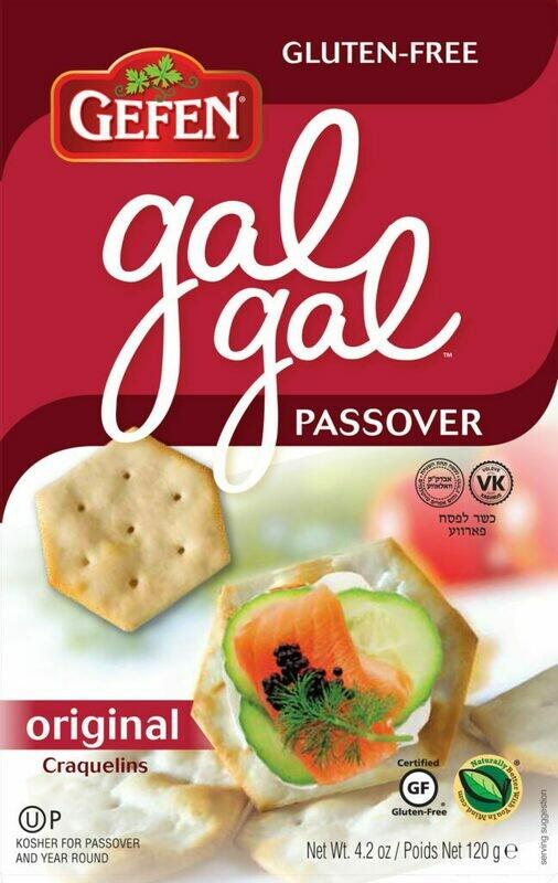 Original Gal Gal Crackers SF 4.2oz Gefen KP