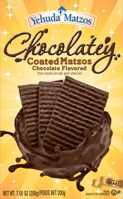 Chocolate Covered Matzah 7.05oz Yehuda KP