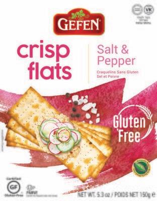 Salt & Pepper Crisp Flats GF 5.2oz Gefen KP