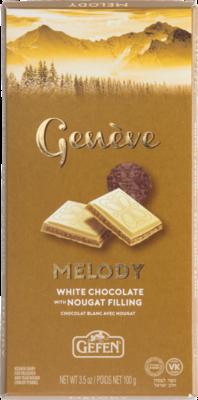 White Chocolate Bar  w/ Nougat (3.5oz) Geneve KP