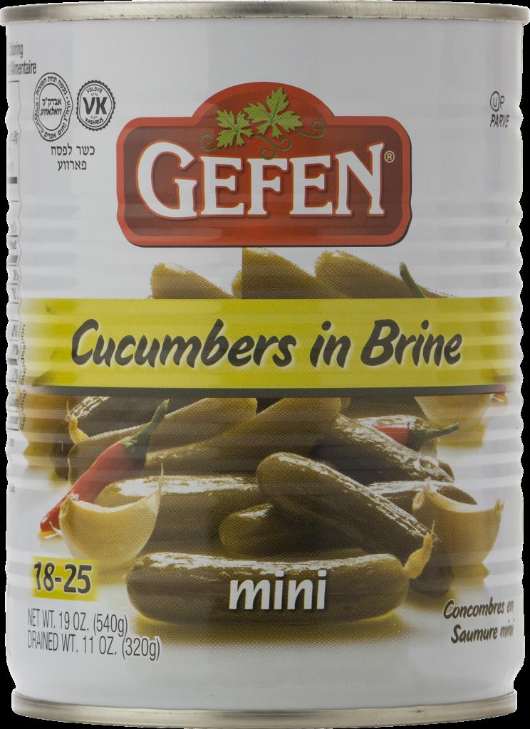 Cucumbers in Brine Mini 18-25QT 19oz Gefen KP