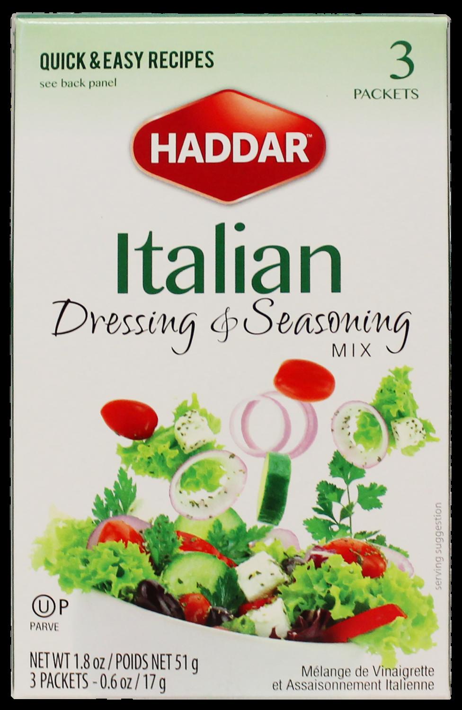 Italian Dressing And Seasoning Mix 1.8oz Haddar KP