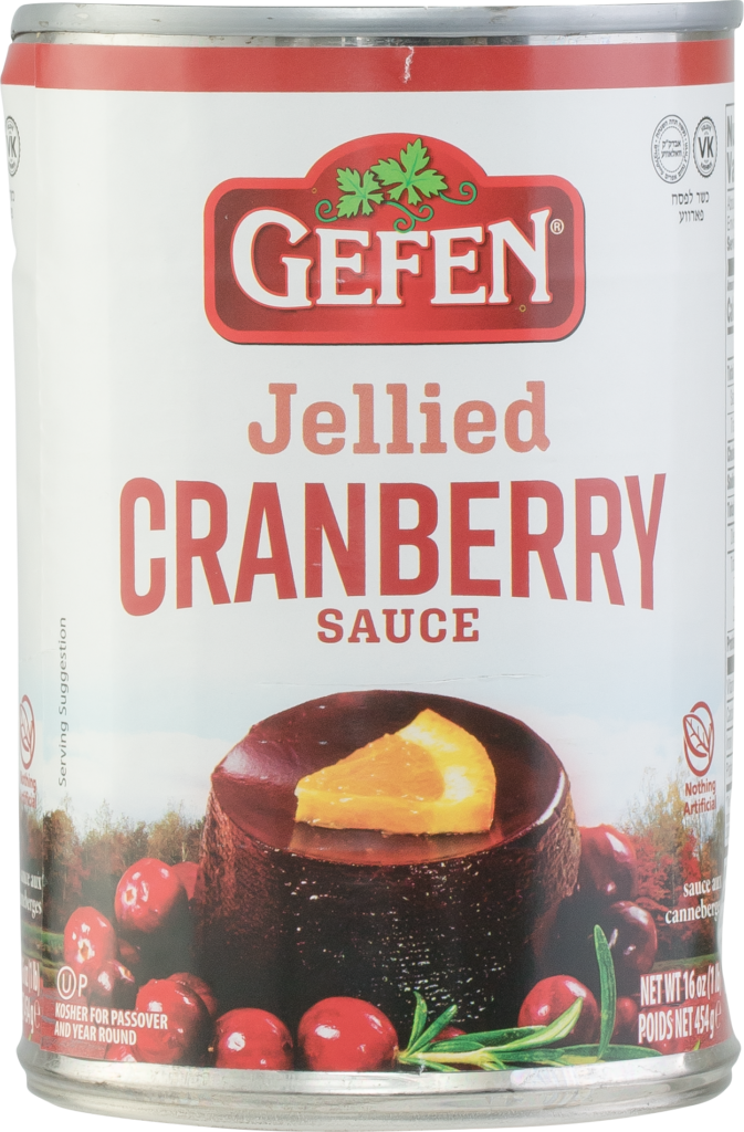 Jellied Cranberry Sauce 16oz Gefen KP