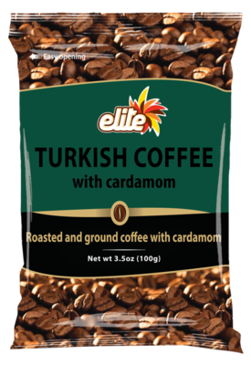 Turkish Coffee w/ Cardamom 3.5oz Elite KP