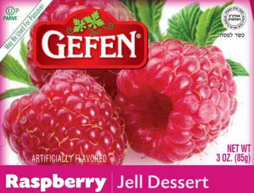 Raspberry Jello 3oz Gefen KP