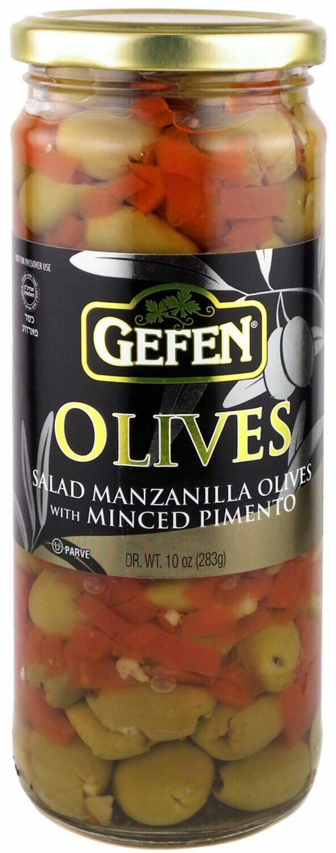 Salad Manzanilla Olives with Pimento 10oz. Gefen Y