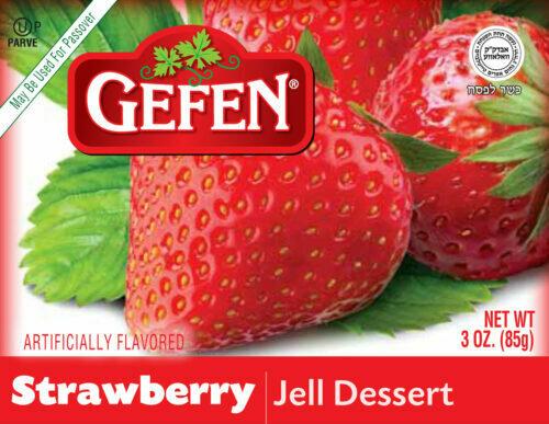 Strawberry Jello 3oz Gefen KP