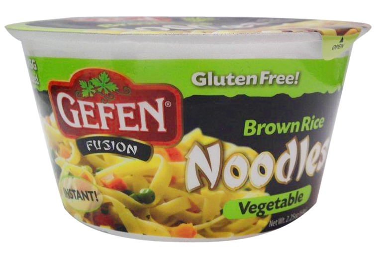 Vegetable Brown Rice Noodle Bowl GF 2.25 Gefen Y
