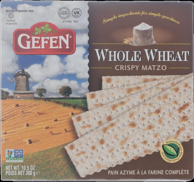 Whole Wheat Crispy Matzo 10.5oz Gefen Y