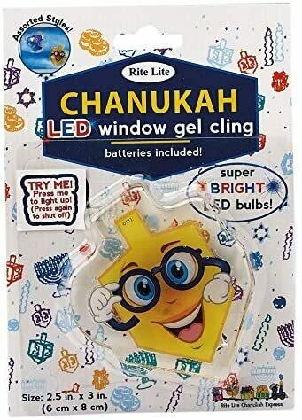 CHANUKAH LED GEL CLING