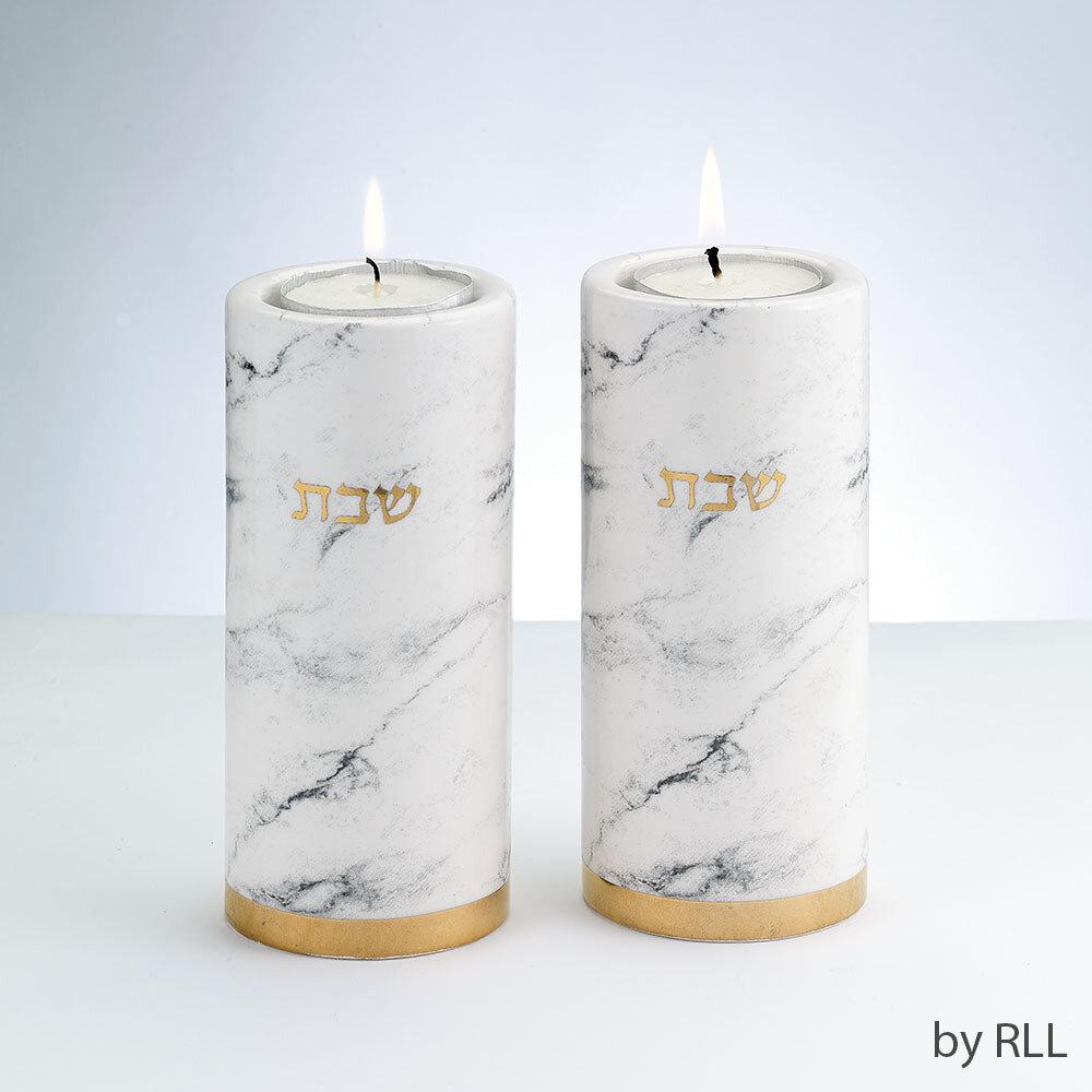 Marble Candlestick Set Ceramic