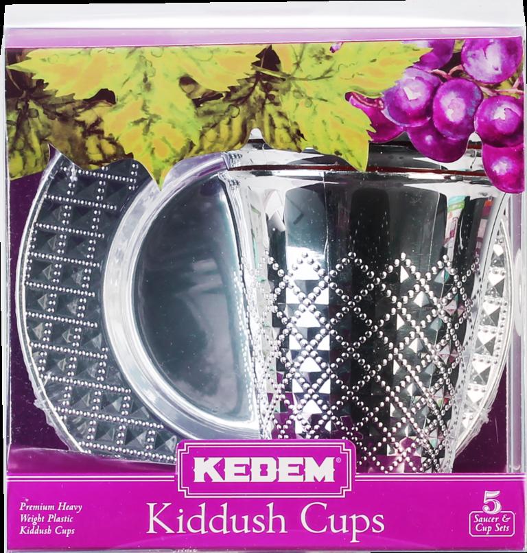 KEDEM DIAMOND KIDDUSH CUPS 5PK