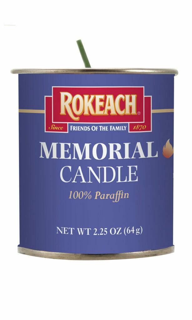 Yartzait Candles Tins | Rokeach