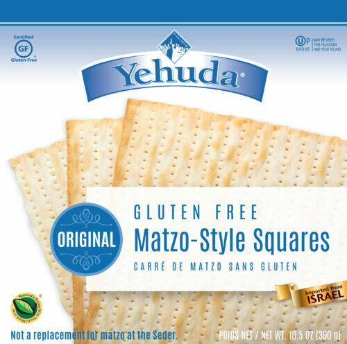 GF Matzah Squares 10.5oz Yehuda KP
