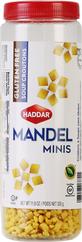 GF Mini Mandel Croutons  11.8oz  Haddar KP