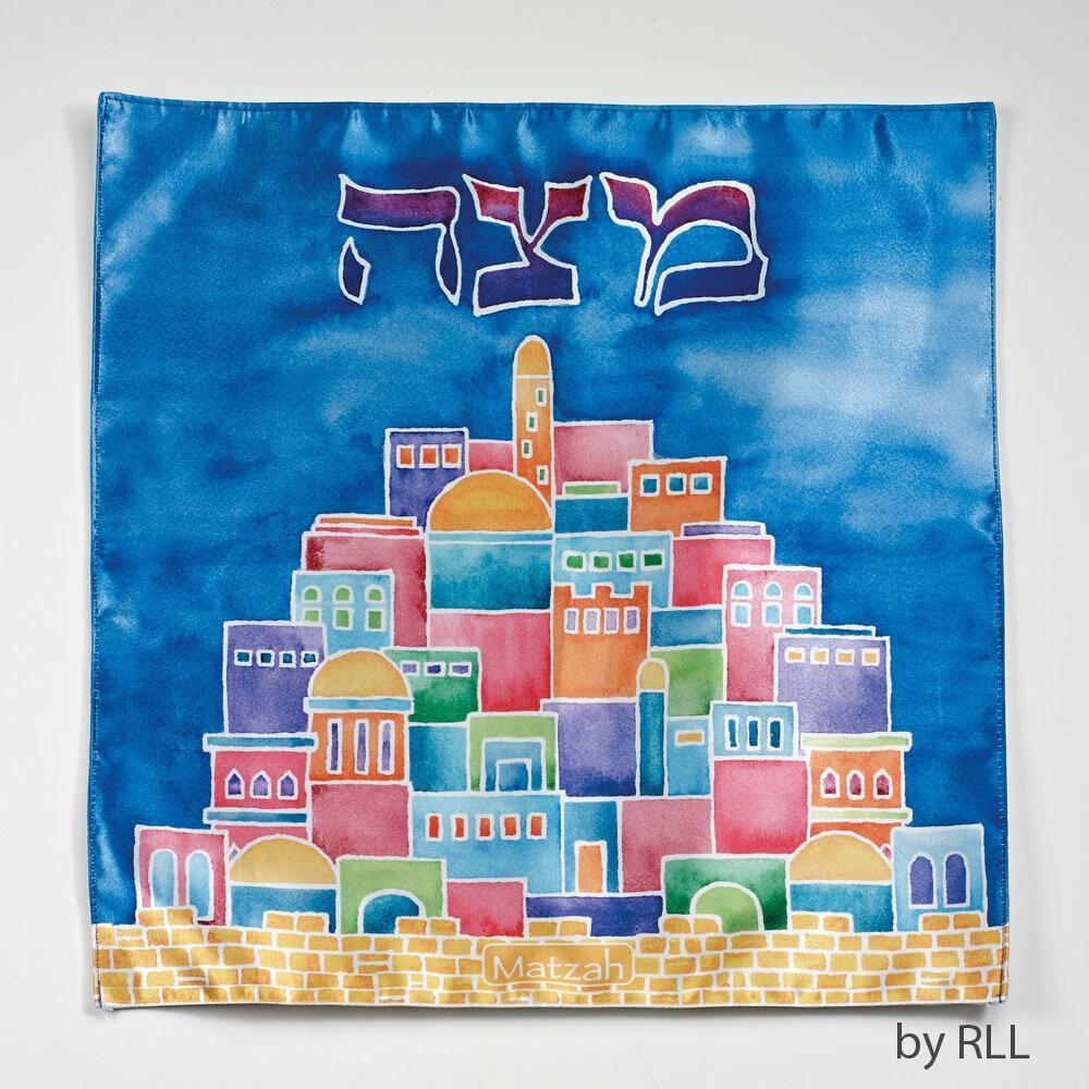 MATZAH COVER MATTE SATIN JERUSALEM
