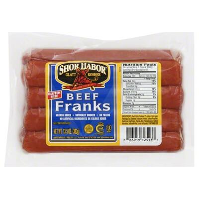 Beef Franks 12oz Shor Habor KP