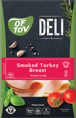 Sliced Smoked Turkey Breast 5oz Of Tov KP