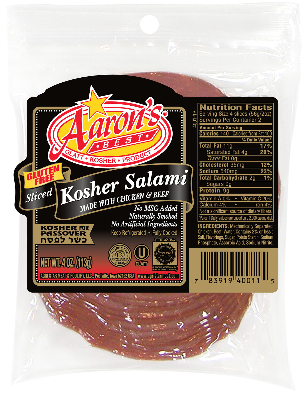 Sliced Salami 4oz Aarons KP
