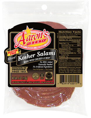 Sliced Salami 4oz Aarons KP