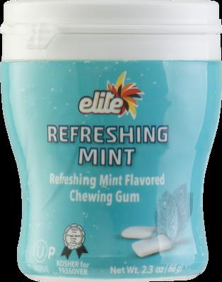 Refreshing Mint Gum With Sugar 2.3oz  Elite KP