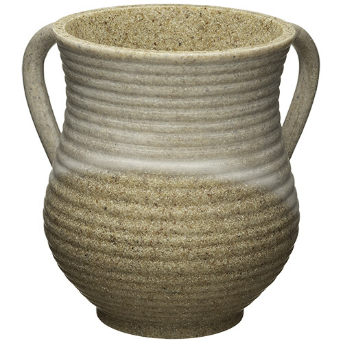 Washing Cup Stone Polyresin sand color