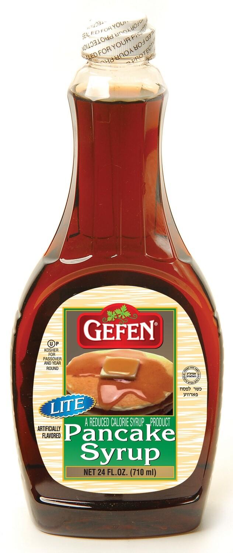 Lite Pancake Syrup 24oz Gefen