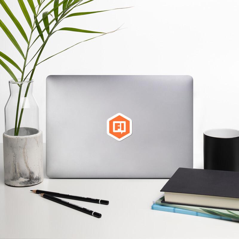 FI Bubble Laptop Stickers
