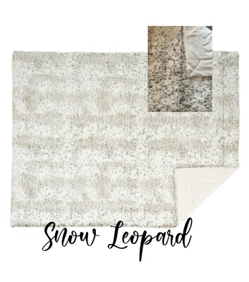 Throw Blanket - Snow Leopard