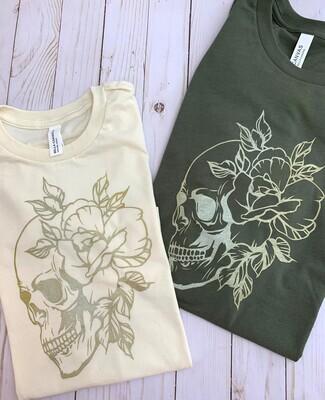 Floral Skull Tee ADULT