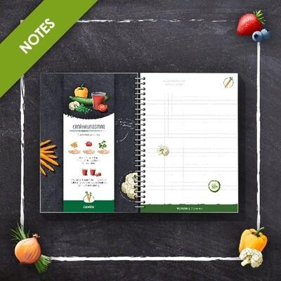 Ernährungsmaß Notizbuch