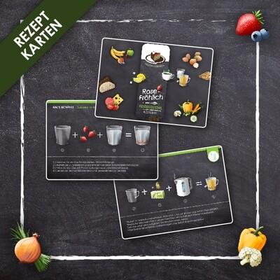 Ernährungsmaß Rezeptkarten