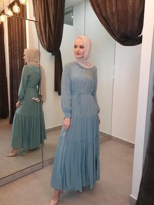 The Laila dress blue
