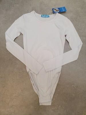 Basic white long sleeve body suit