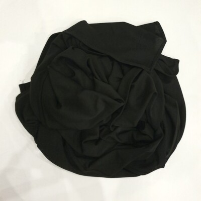 Black Cotton shiny Hijab