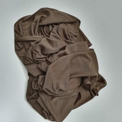 Khaki Shiny Cotton Hijab