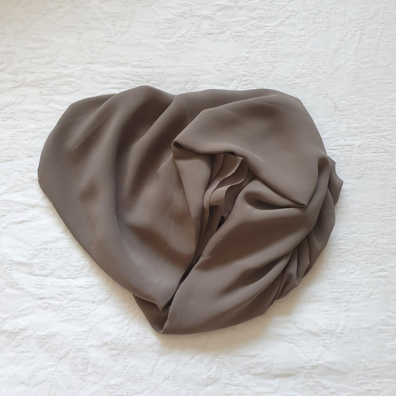 Mocha folded stitch Hijab