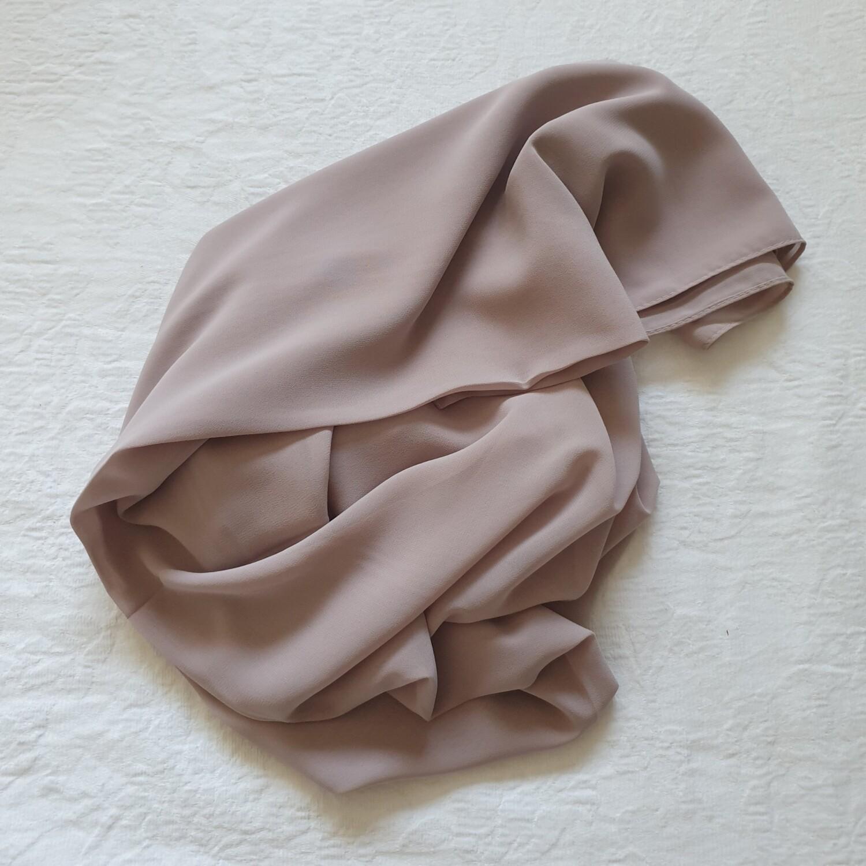 Dusty pink folded stitch Hijab