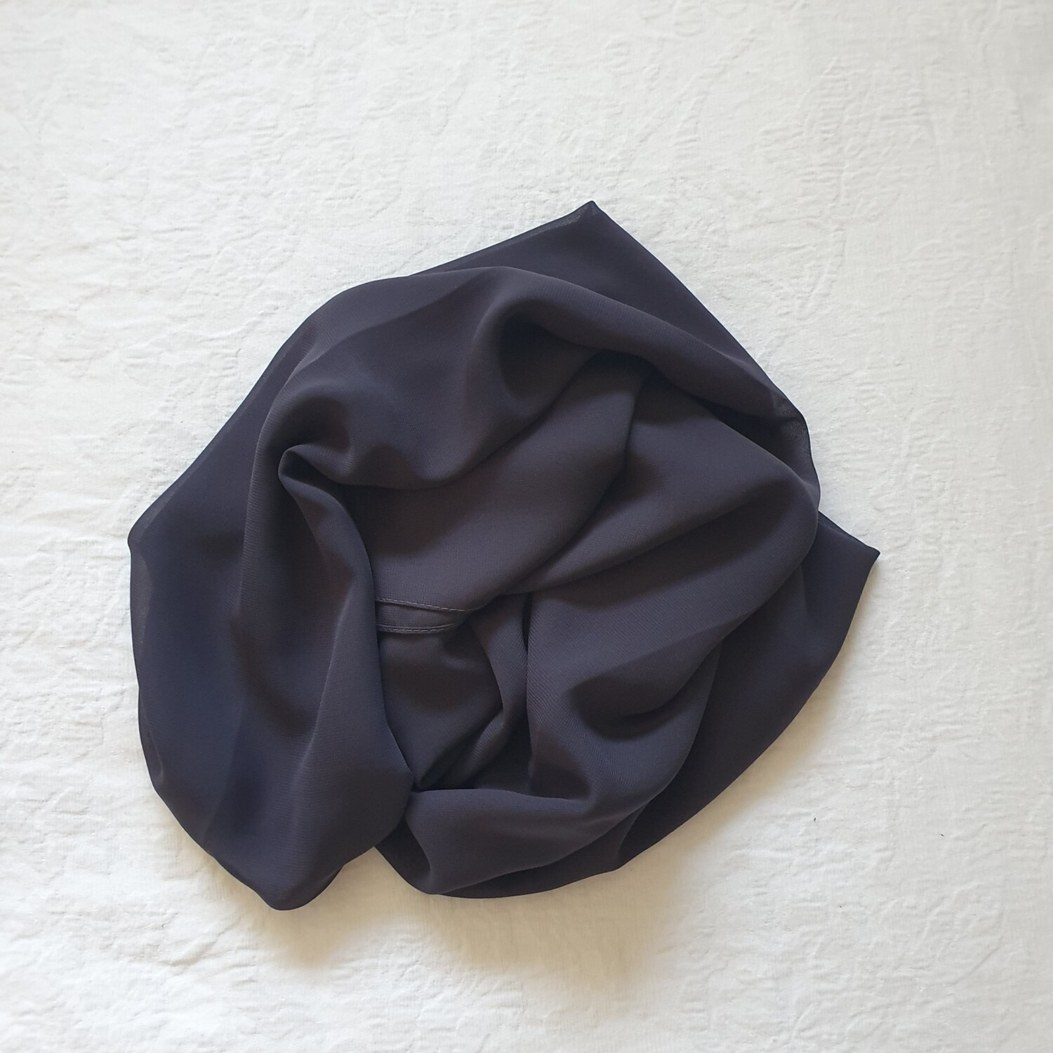 Navy folded stitch Hijab