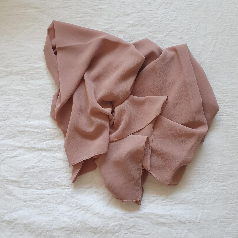 Blush folded stitch Hijab