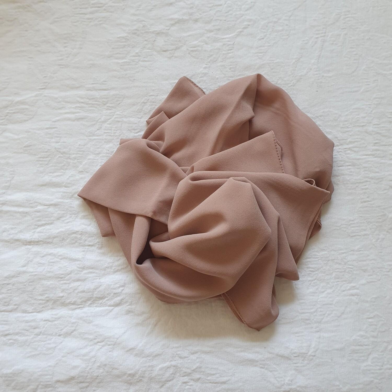 Salmon folded stitch Hijab