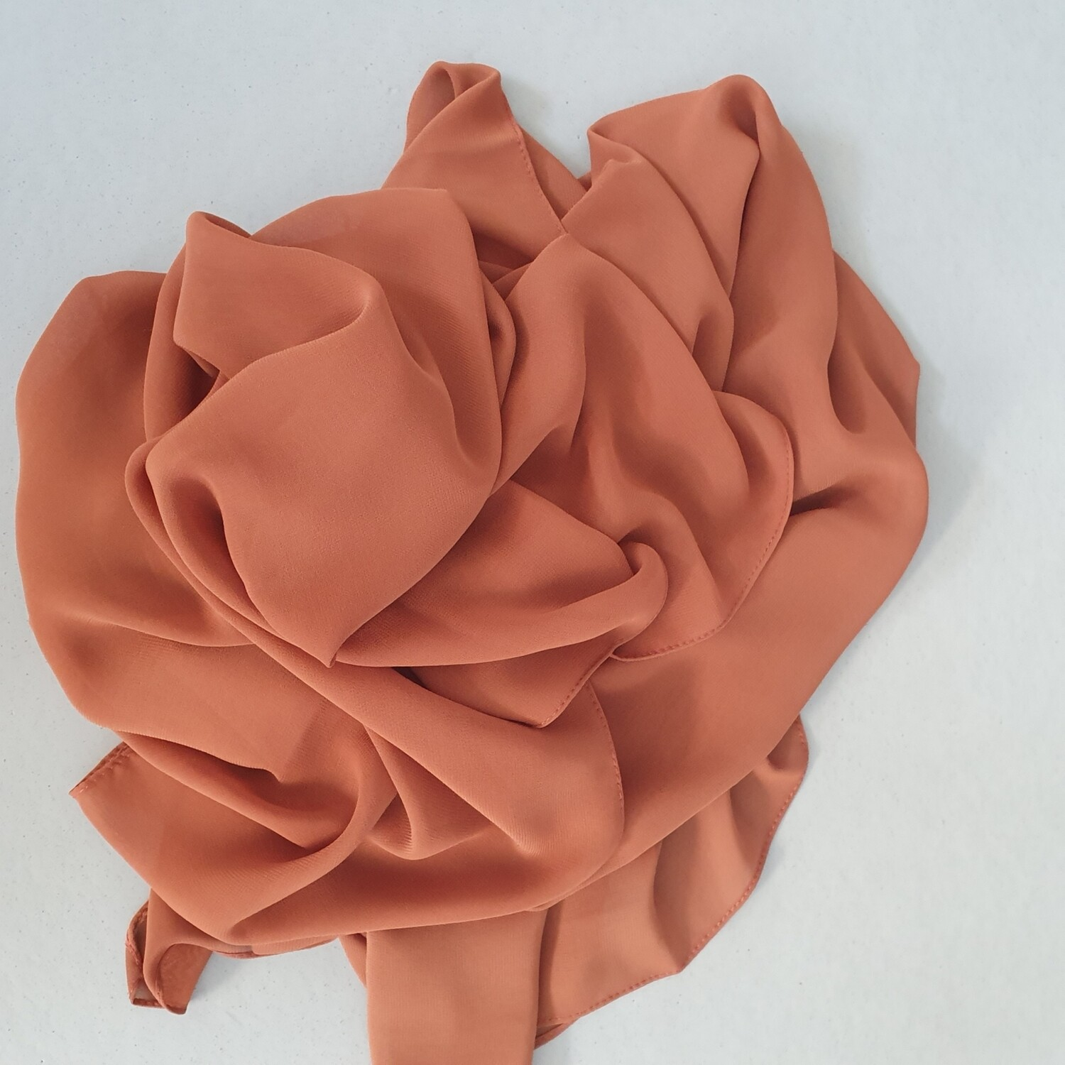 Coral folded stitch Hijab