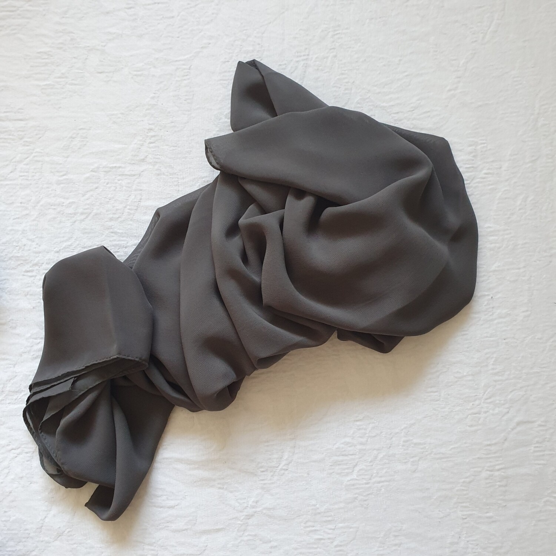 Khaki folded stitch Hijab