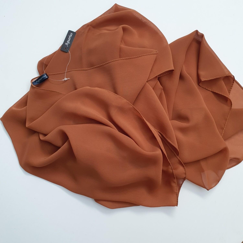 Burnt folded stitch Hijab