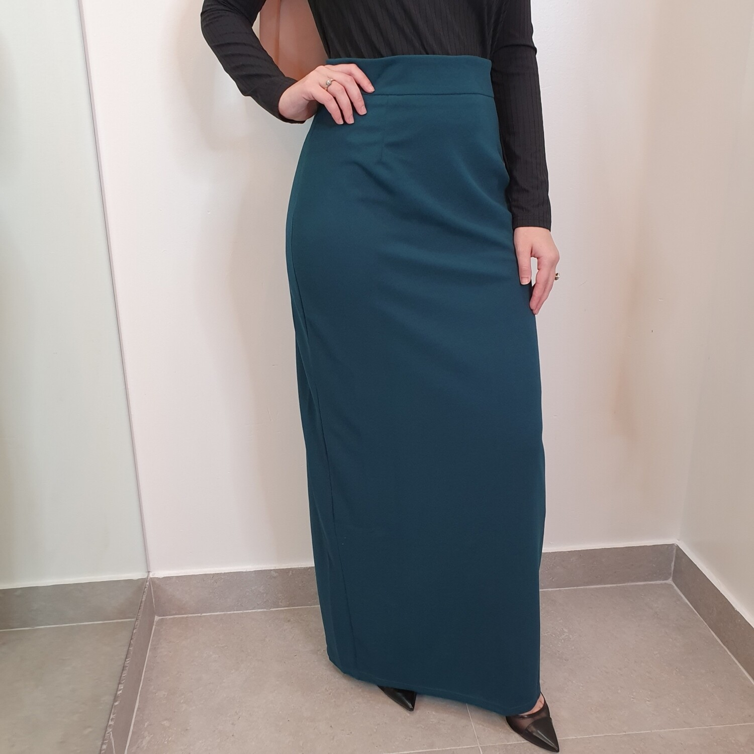 Basic pencil skirt teal