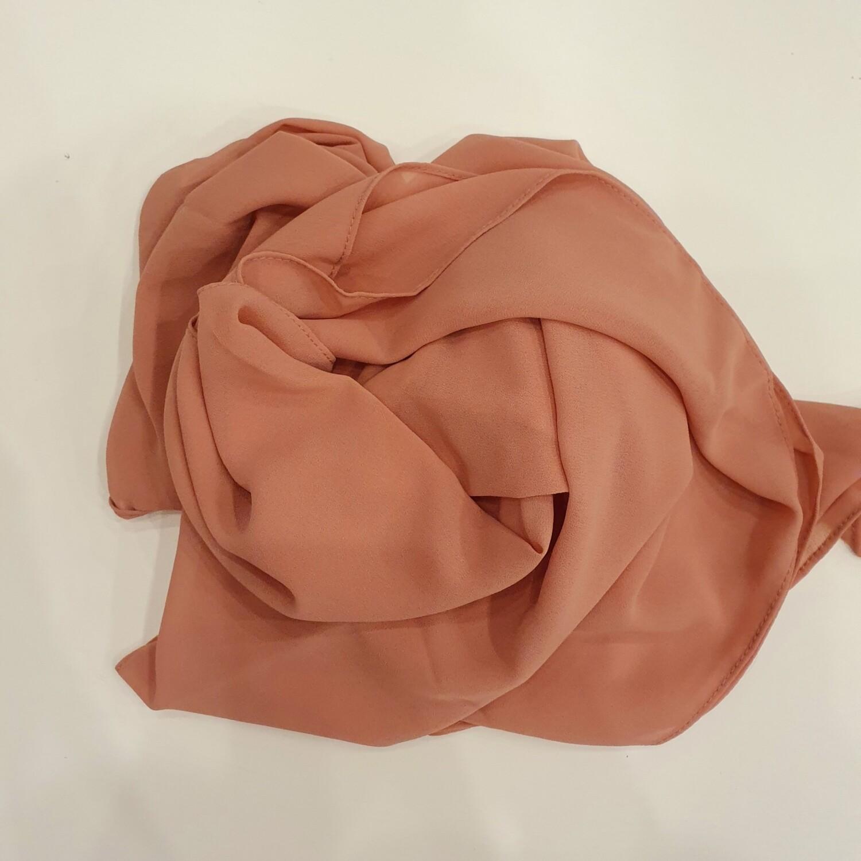 Light Coral Chiffon Hijab