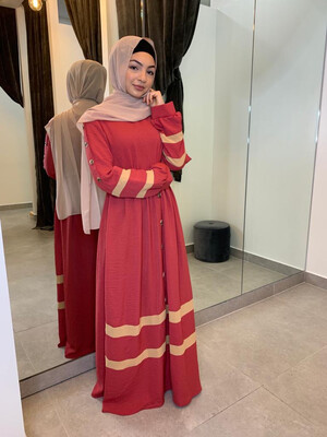 Coral Turkish Dress