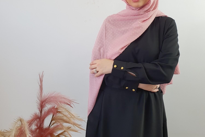 Pink textured hijab